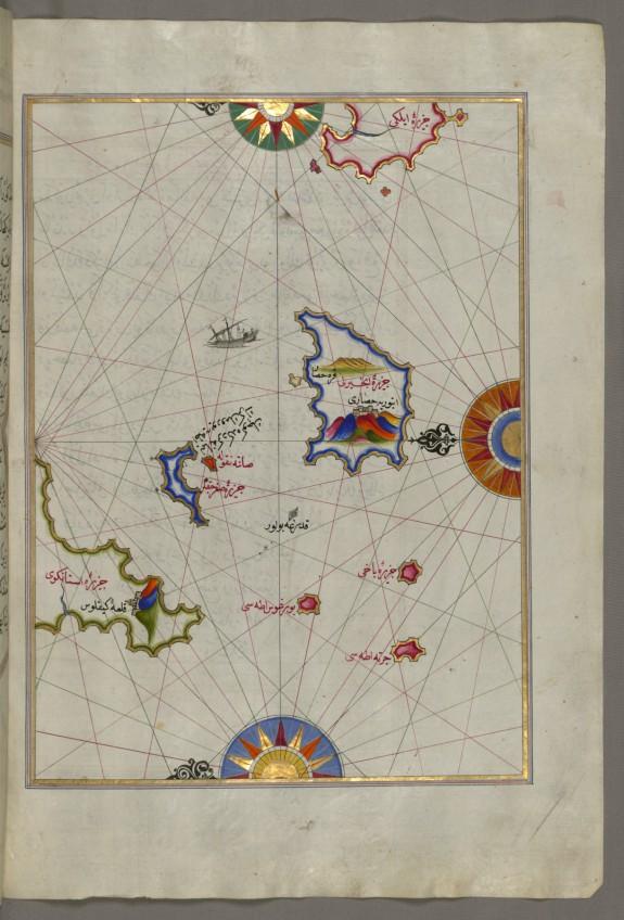 Map of Nisyros Island South of Cos Island in the Eastern Aegean Sea