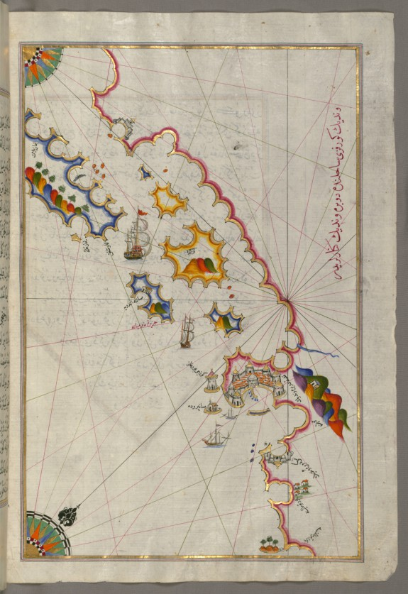 Map of the Adriatic Coastline from Dubrovnik North