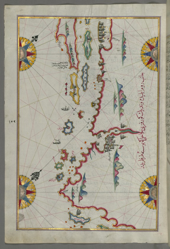 Map of the Coastline and the Islands Between Šibenik and Zadar