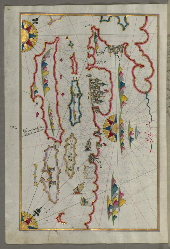 Map of the Coastline and the Islands Off Zadar