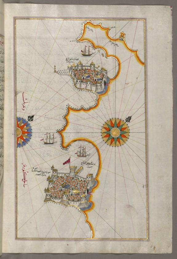 Map of the Coastline From Novi Grad as Far as Umag