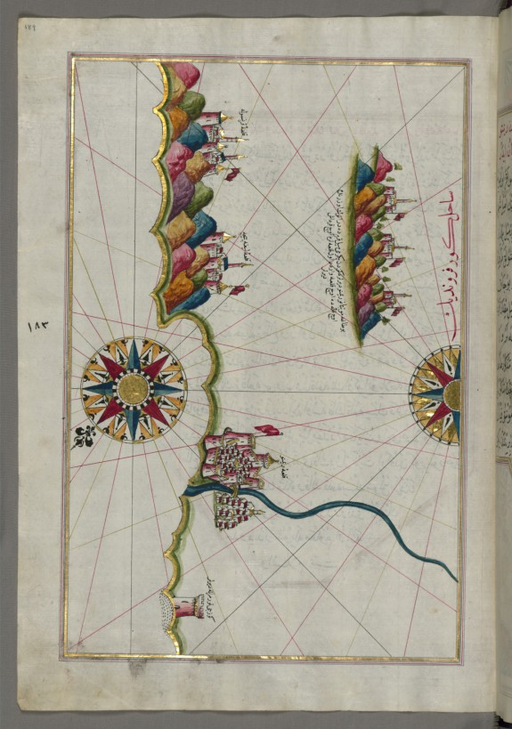 Map of the Italian Coastline From Rimini South Towards Pesaro
