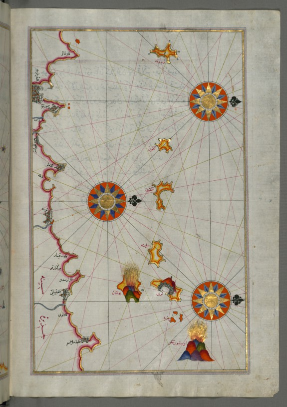 Map of the Northern Coast of Sicily From Milazzo to Palermo