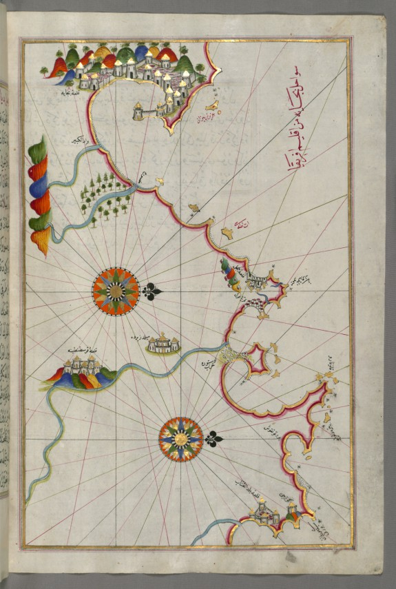 Map of the Algerian Coast From the Port of Bejaia as Far as Annaba with the City of Constantine