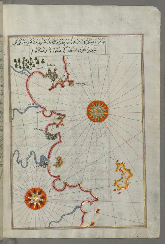 Map of the Algerian and Tunisian Coast From Annaba to Tabarka