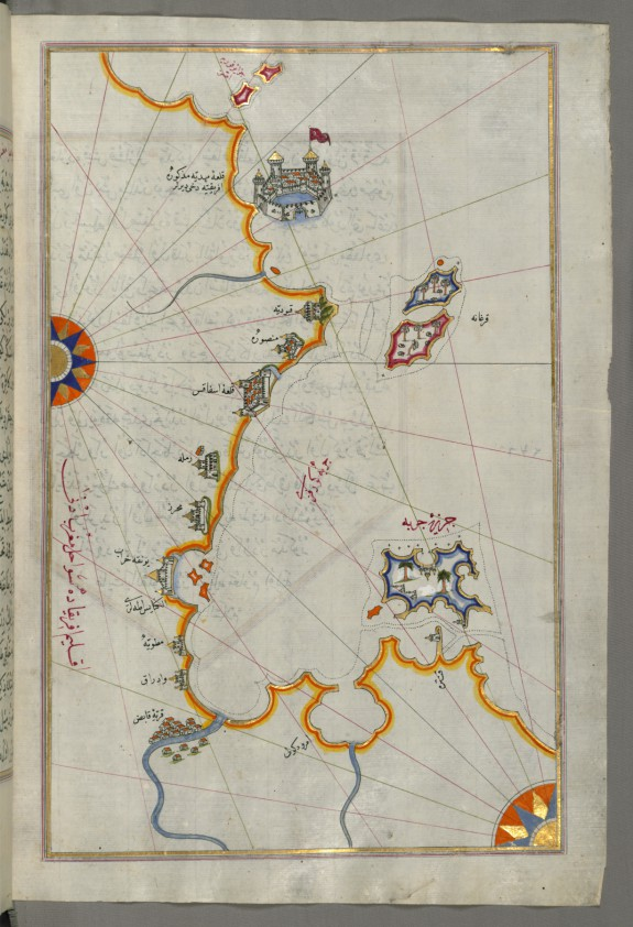 Map of the Tunisian Coast with the Fortress of Mahdiyah and the Island of Jarbah