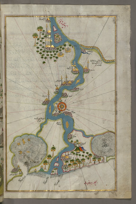 Map of the River Nile From Its Estuary South