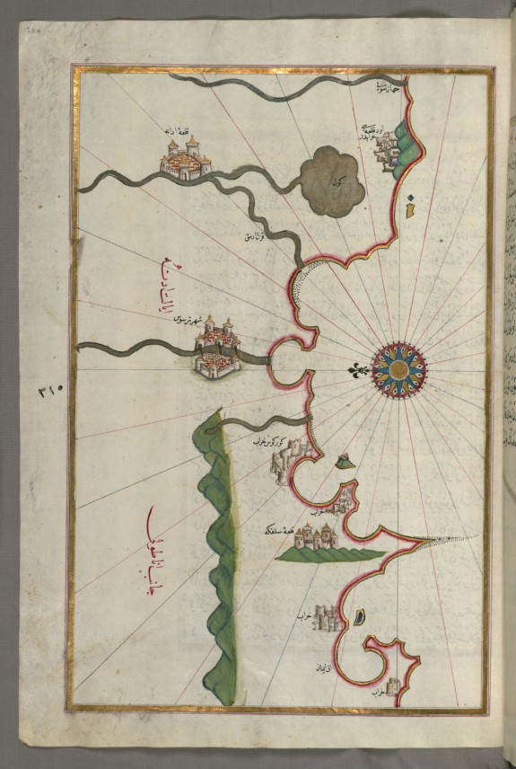 Map of the Anatolian Coast and the Cities Adana and Tarsus