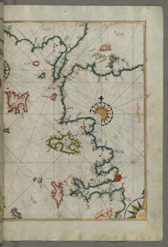 Map of the Sea of Marmara and the Islands of the Eastern Aegean Sea from Semendrek to Chios