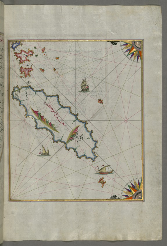 Map of the Island of Ikaria in the Eastern Aegean Sea