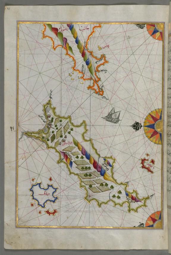 Map of the Island of Cos Off the Anatolian Coast