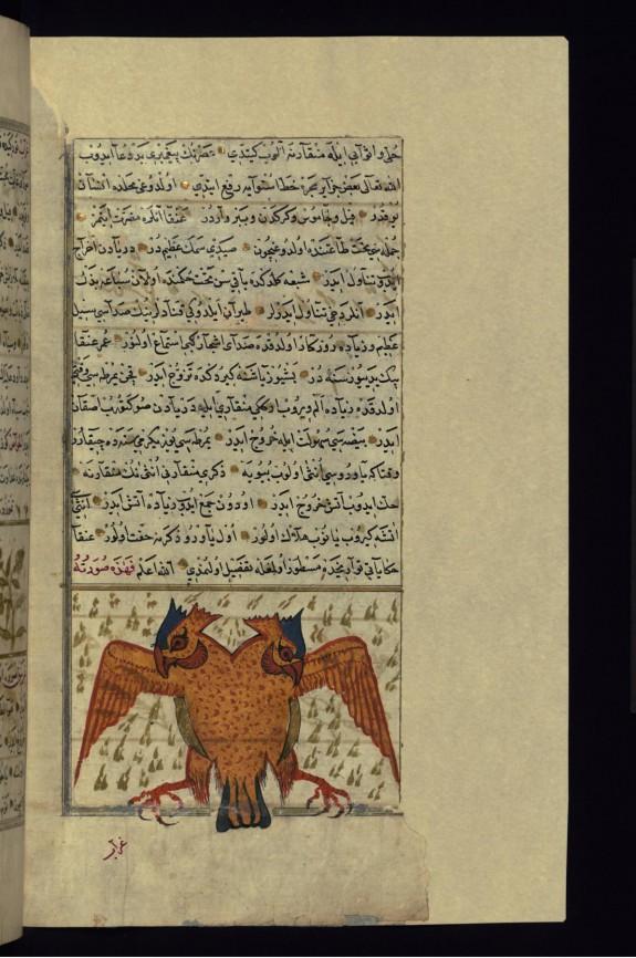 A Fabulous (Legendary) Bird Such as a Griffon or Simurgh