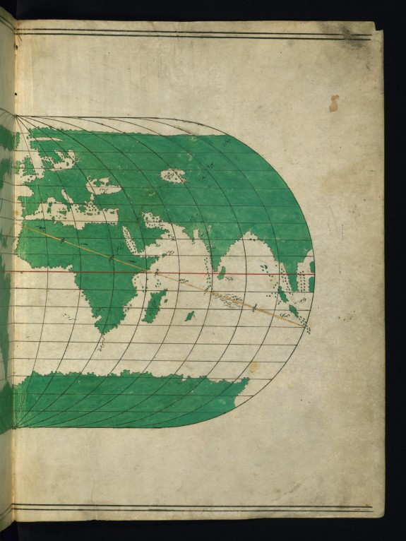 Right Half of a World Map Showing Africa and the Far East