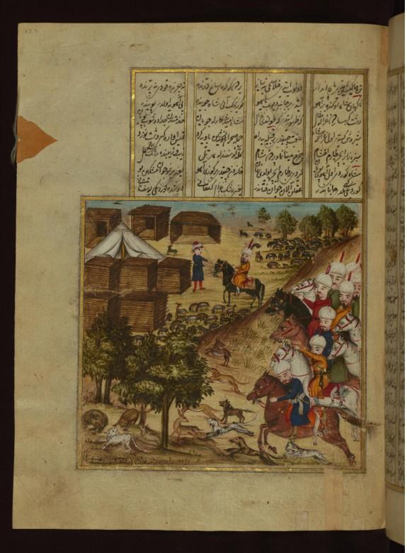 Sultan Mahmud on Horseback Speaking with Ayaz