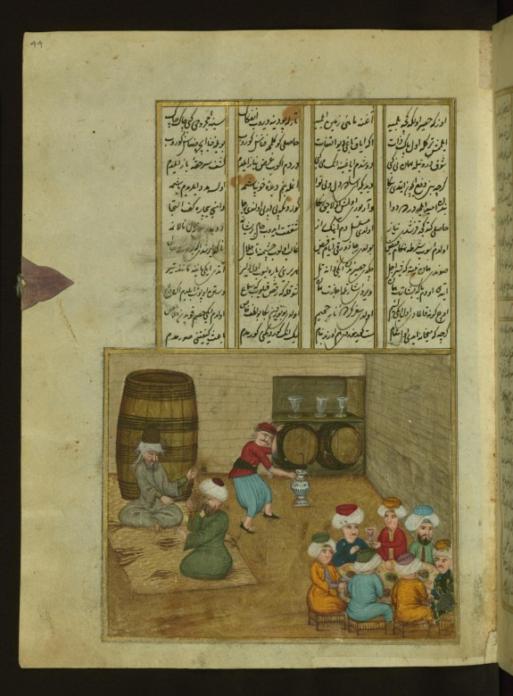 The Poet 'Ata'i Talking to a Learned Man in a Tavern