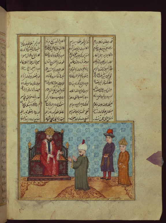 A Messenger from Seljuk Sultan Meliksah Being Received by the Byzantine King