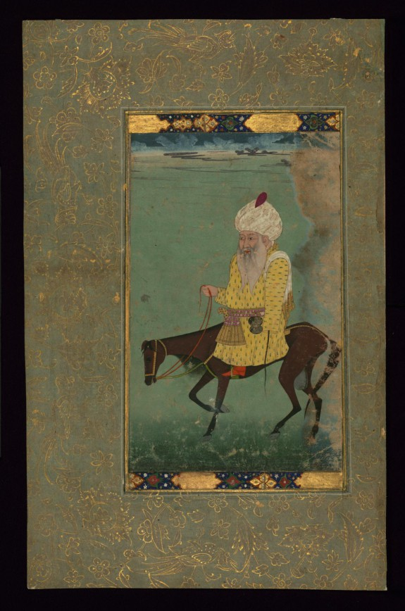 Single Leaf of Mullah Du Piyaza Riding a Horse