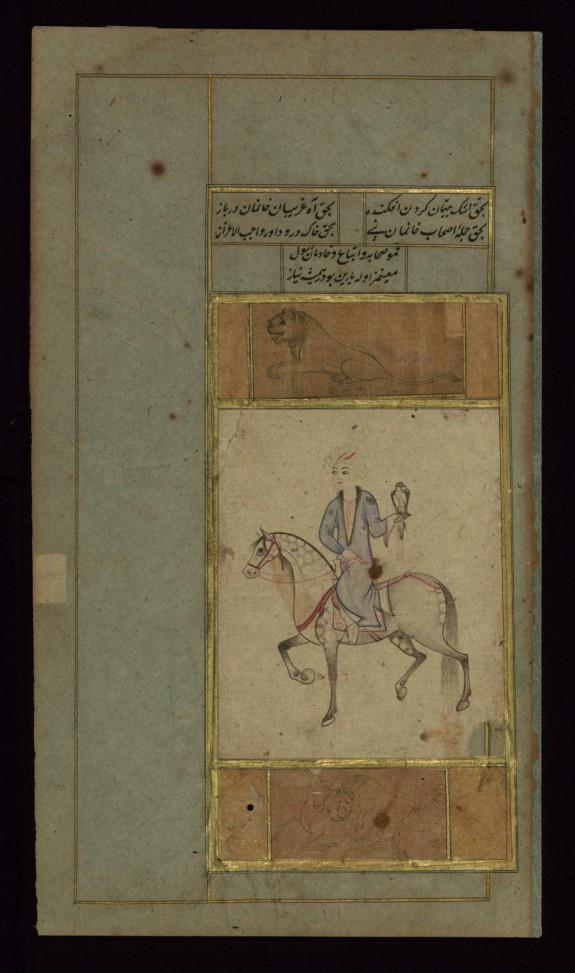 Falconer on Horseback