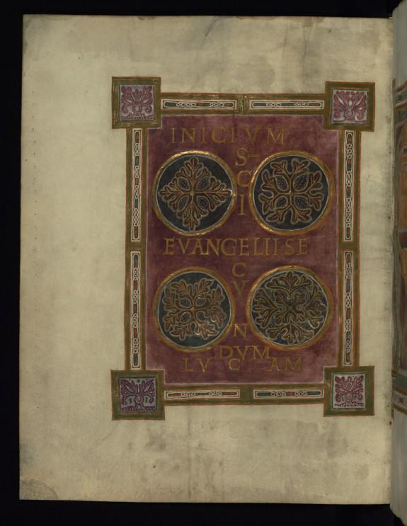 Frontispiece for the Gospel of Luke