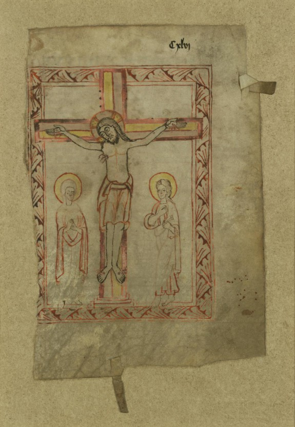 Leaf of a Missal with the Crucifixion and Canon of the Mass