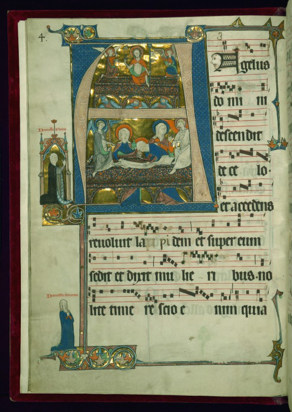 Leaf from the Beaupré Antiphonary: Initial