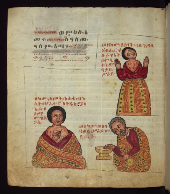The Archangel healing a sick woman