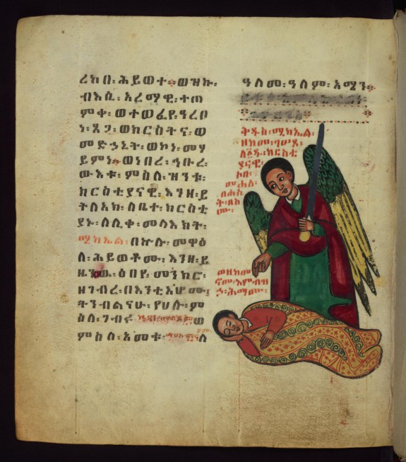 The Archangel admonishing the man who swore in him when lying