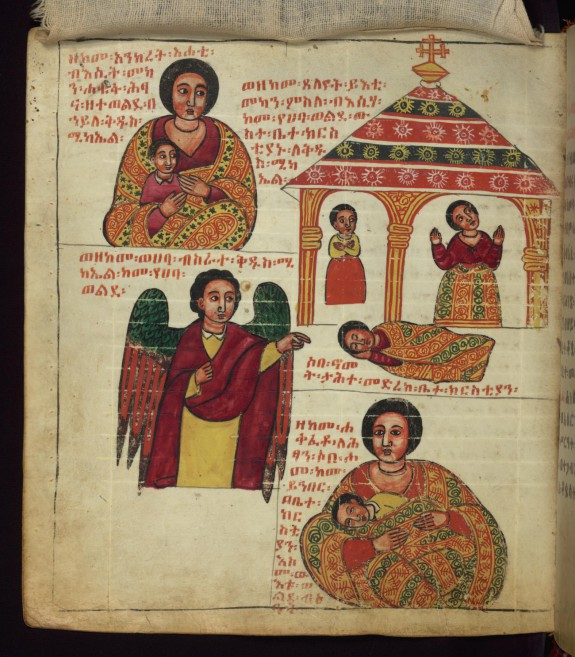 The Archangel helping the barren woman have a child