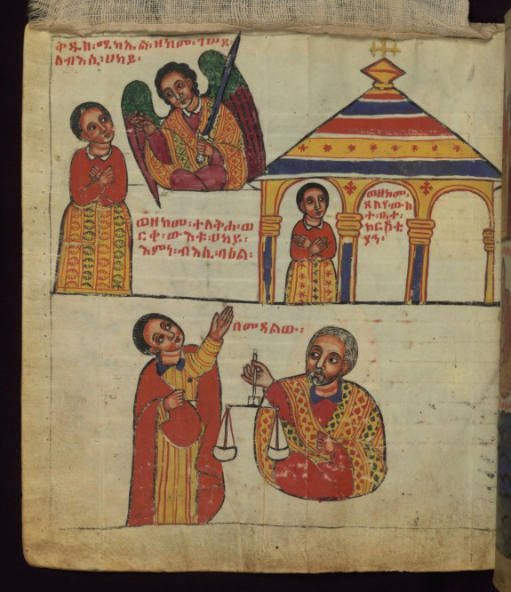 The Archangel admonishing the idle man