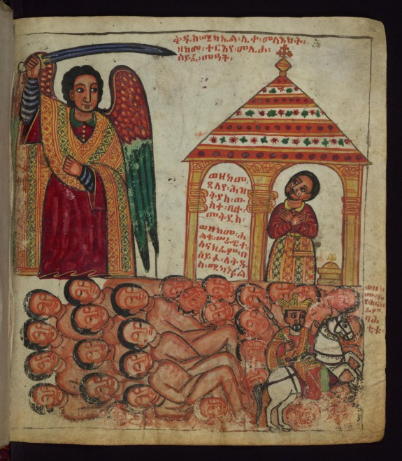 The Archangel helping Hezekiah of Judah defeat Sennacherib of Assyria