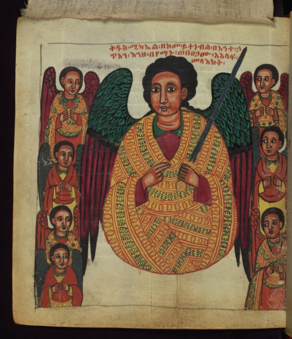 The Archangel interceding on behalf of sinners