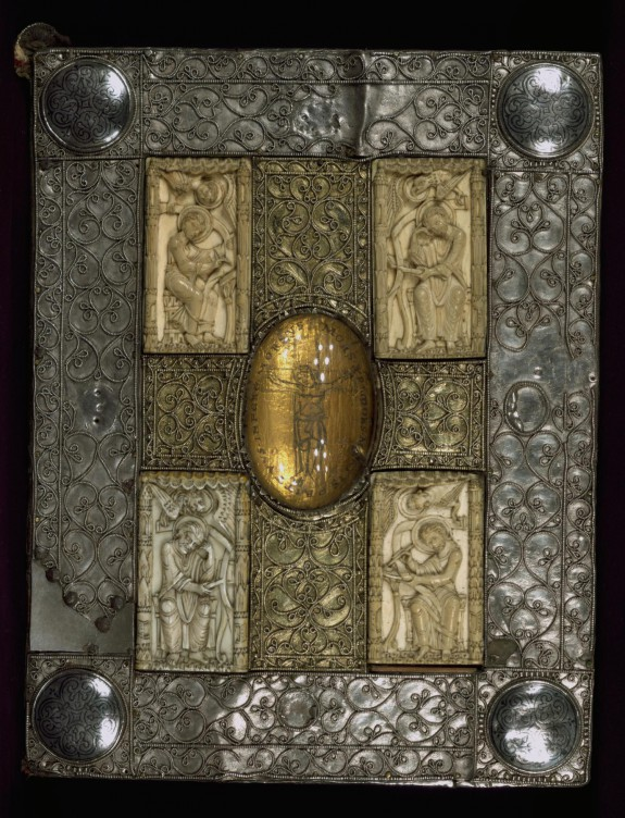 Binding for the Mondsee Gospels and Treasure Binding with the Evangelists and Crucifixion
