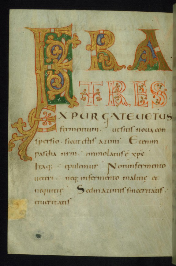 Fratres with Decorated Letters F, R, and A