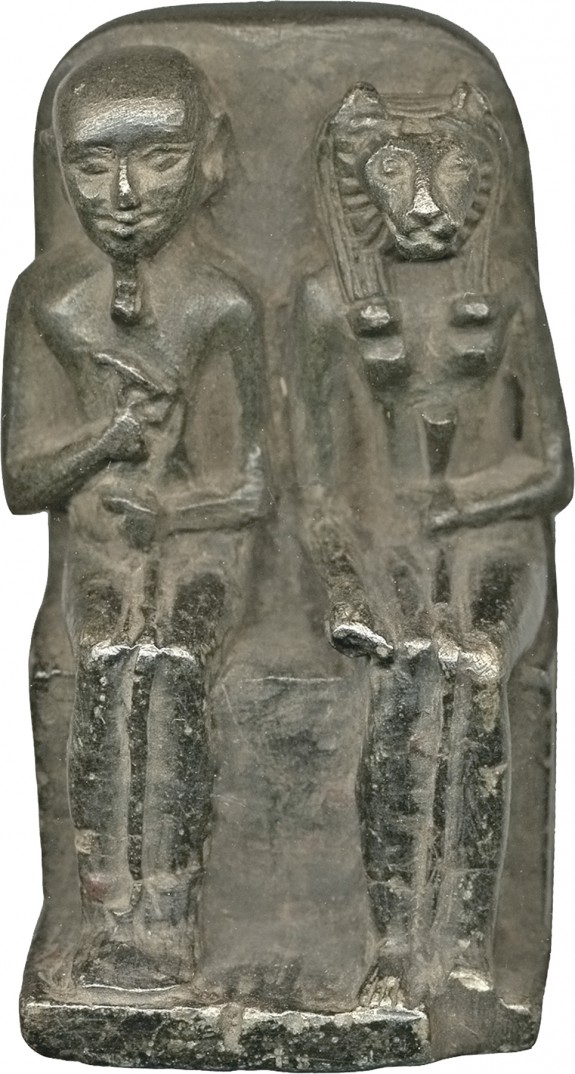 Miniature Group of Ptah and Sakhmet