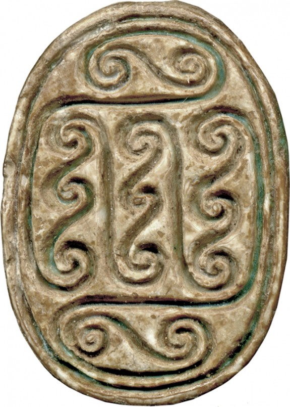 Scarab with Geometric Spirals