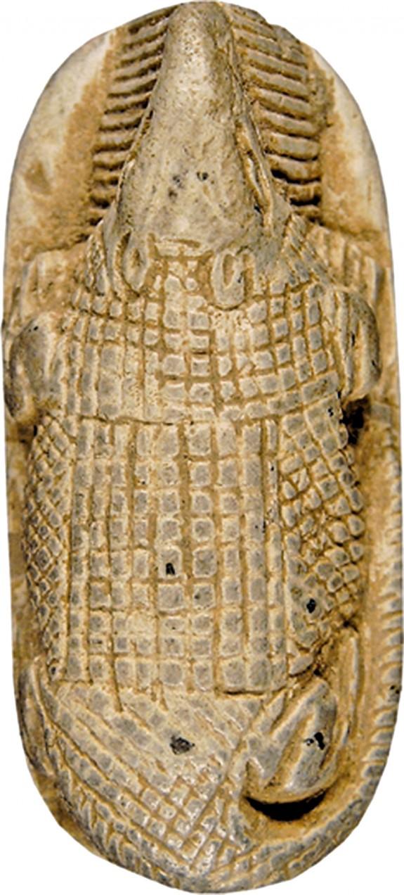 Amulet with a Crocodile as a Solar God
