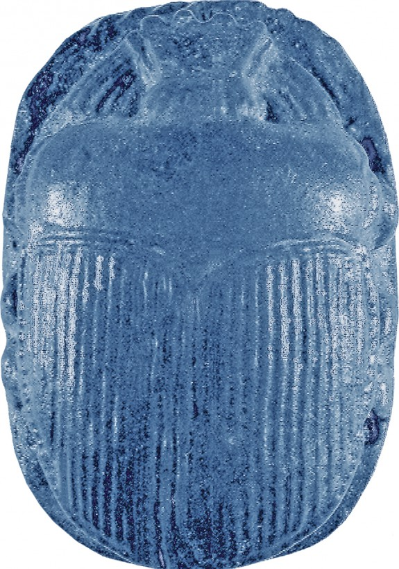 Centerpiece of a Winged Scarab