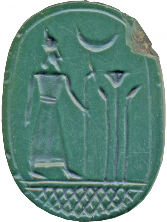 Scarab with a Standing Ruler