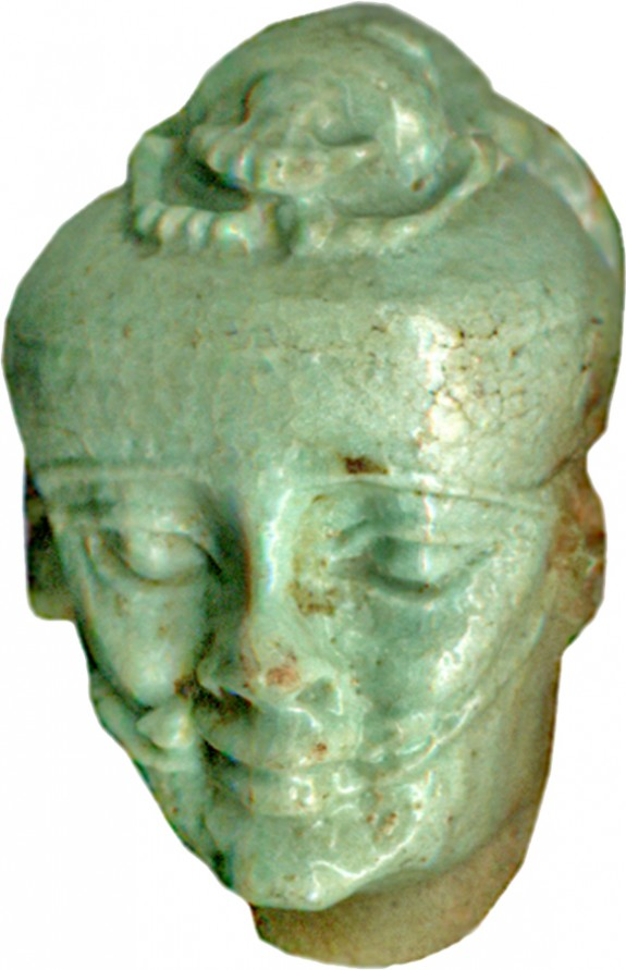 Head of Pataikos with Scarab