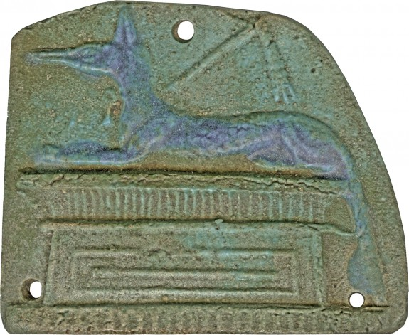 Plaque with a Jackal Shaped Anubis