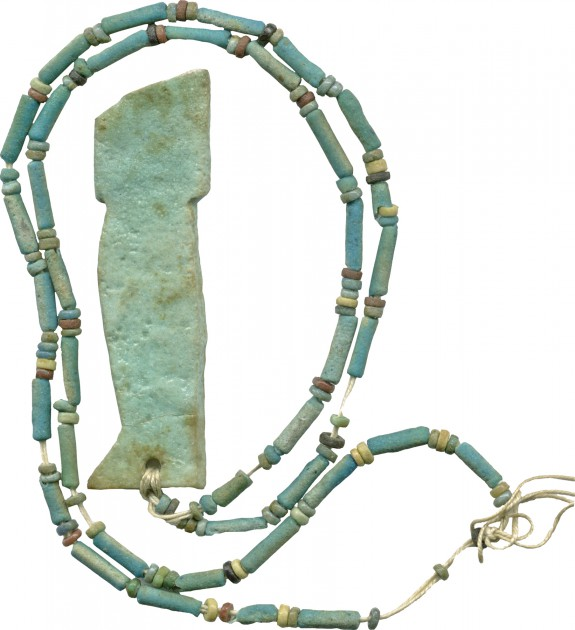 Son of Horus and Faience Beads