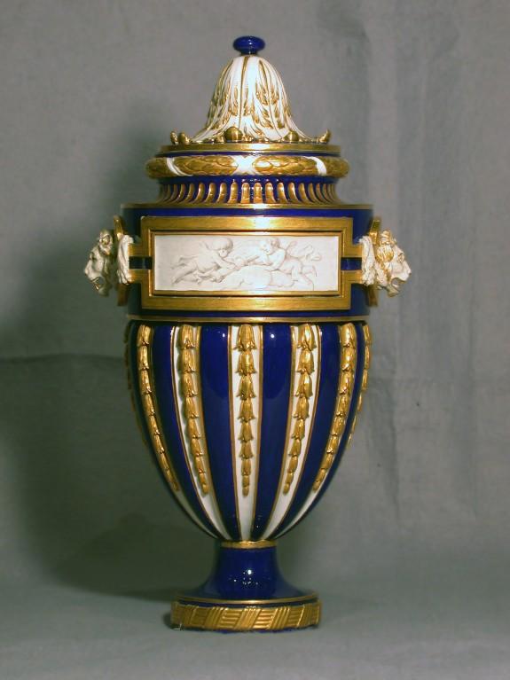One of a Pair of Vases (Vase à tête de lion)