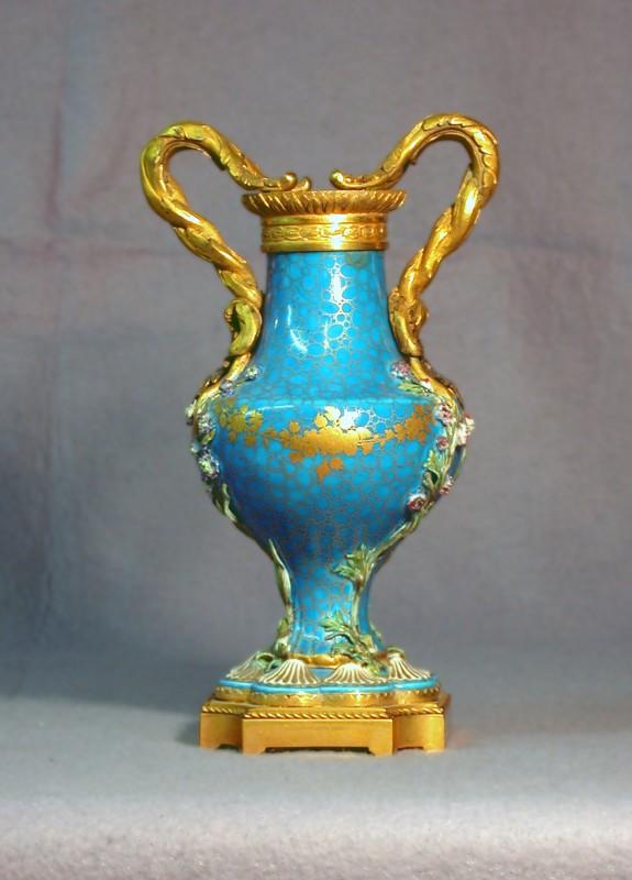 Vase with Gilt-Bronze Mounts