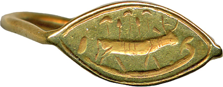 Ring Engraved with Hathor