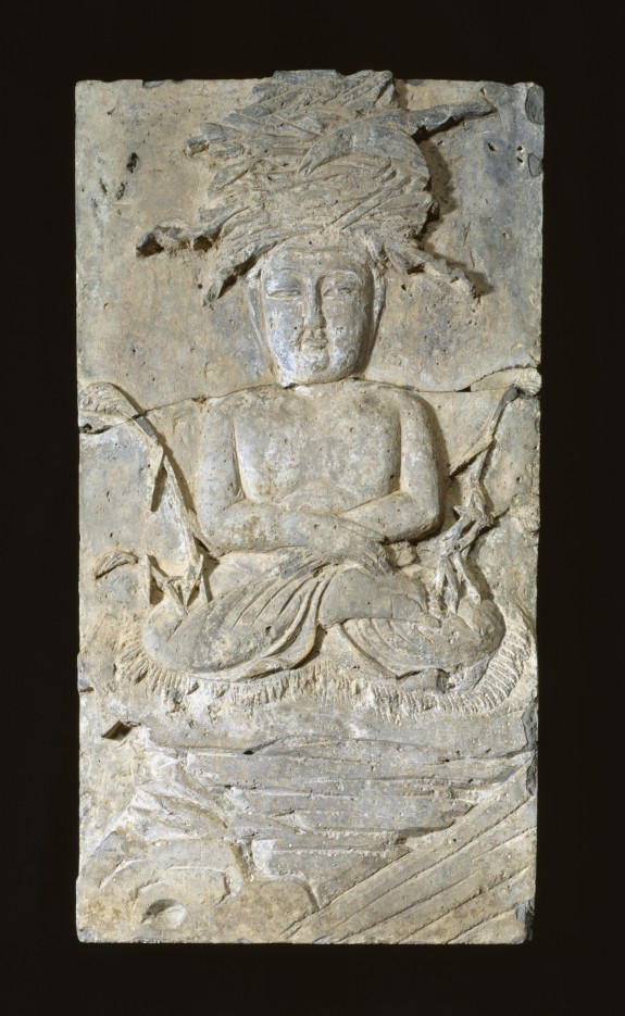 One of Fifteen Reliefs from a Buddhist Monument: A Monkey Making an Offering