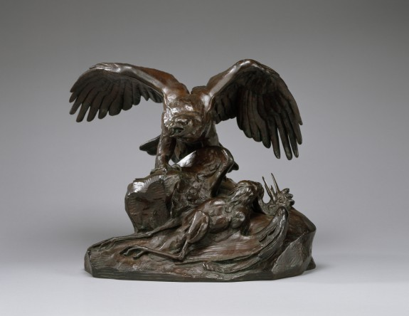 Eagle Holding a Heron (first version)