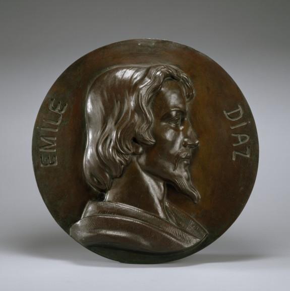 Portrait Medallion of Émile Diaz