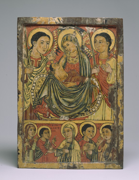 Icon of the Virgin and Child with Angels