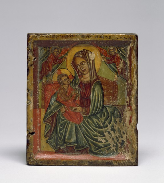 Right Half of a Diptych with the Virgin and Child
