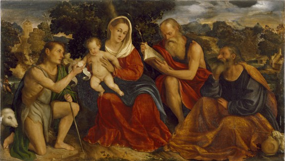The Holy Family with Saints John the Baptist and Jerome